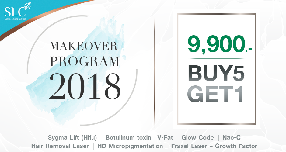 MAKEOVER PROGRAM 2018  9,900.-  BUY 5 GET 1