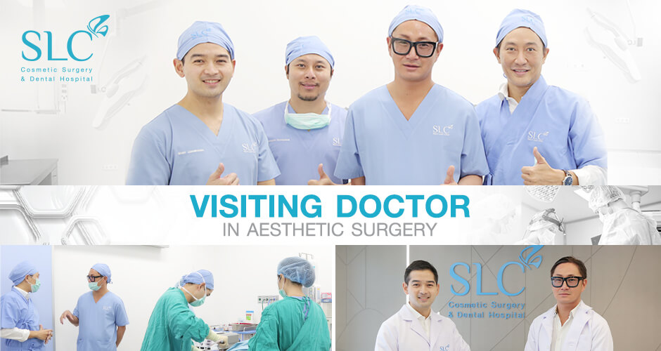 "Dr. Dominique Lucas, a board-certified plastic surgeon from CHUV Lausanne, Switzerland honors visiting SLC Hospital for the special occasion ""Visiting Doctor in Aesthetic Surgery"""
